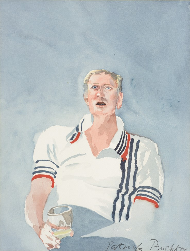 Patrick Procktor RA  Nicol Williamson, 1977  Watercolour on paper  40 x 30 cm  Signed