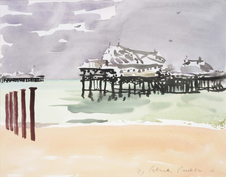 Patrick Procktor RA  West Pier, Brighton, 1922  Watercolour on paper  35 x 45 cm  Signed and dated