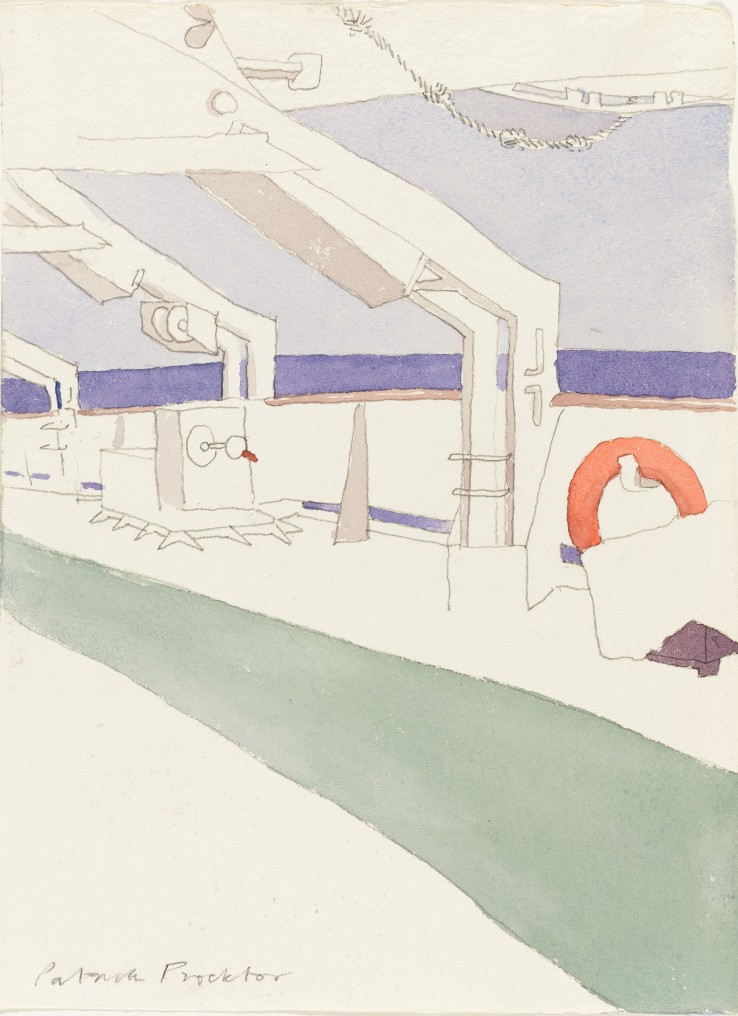 Patrick Procktor RA  Lifebelt, 1993  Watercolour and pencil on paper  32 x 23 cm  Signed in lower margin