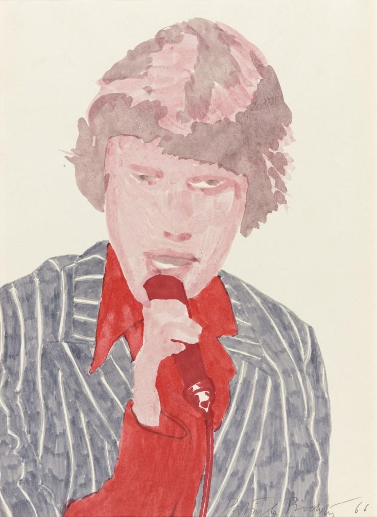 Patrick Procktor RA  Mick Jagger, 1966  Felt-tip pen on paper  34 x 24 cm