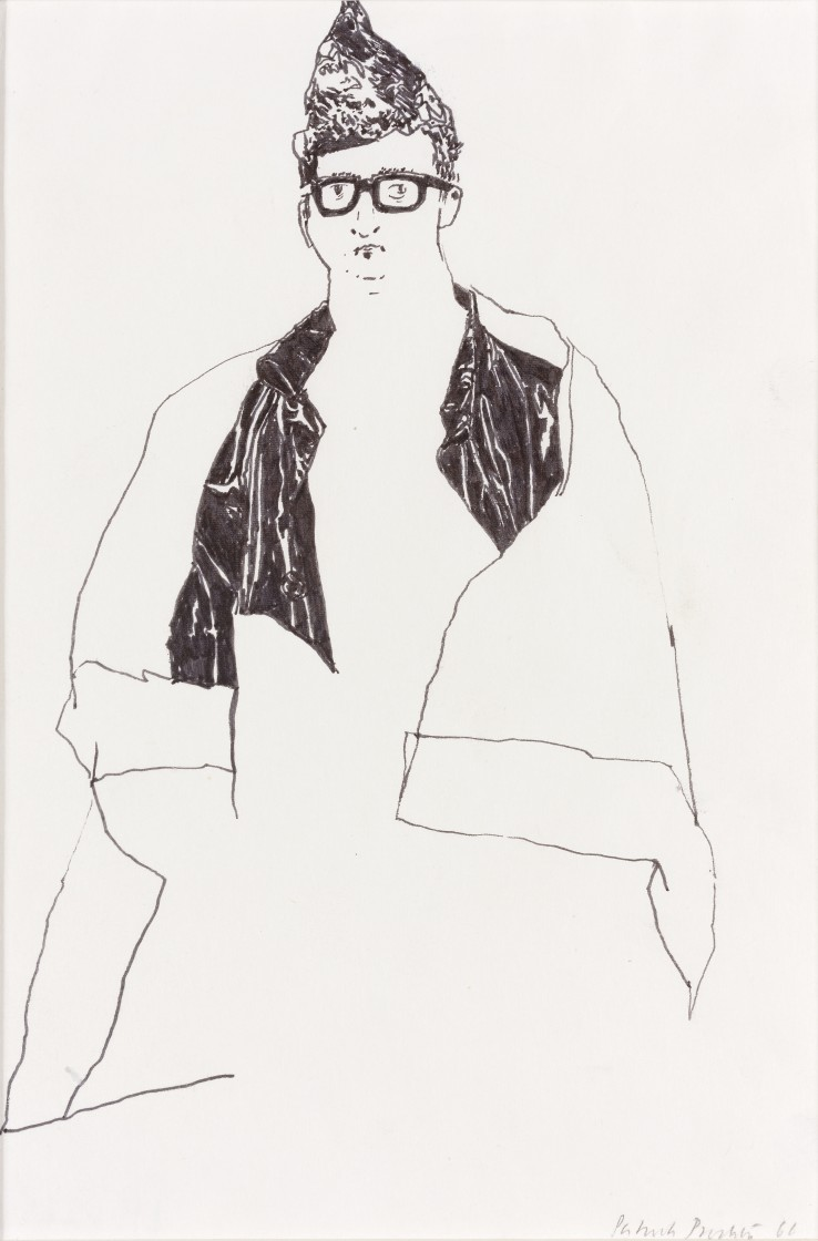 Patrick Procktor RA  Untitled, 1966  Ink on paper  26 x 18 cm  Signed and dated