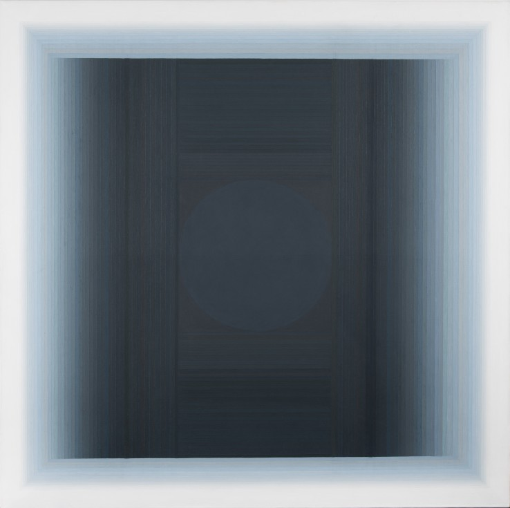Aduton XXVI  1989  Oil on canvas laid on wood  152 x 152 cm  Exhibited: Paul Feiler: Form to Essence, Tate St Ives, 1995  Paul Feiler: One Hundred Years, Jerwood Gallery, Hastings, 2018