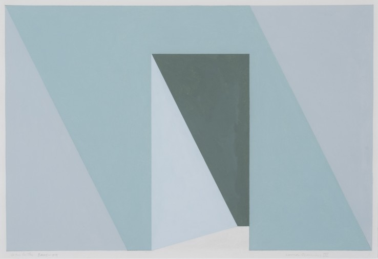 Corner Opening, Study, 2005-09  Acrylic on paper  27 x 39 cm  Stephen Bann, John Carter: On paper, Royal Academy of Arts, 2019 (illus. cover)