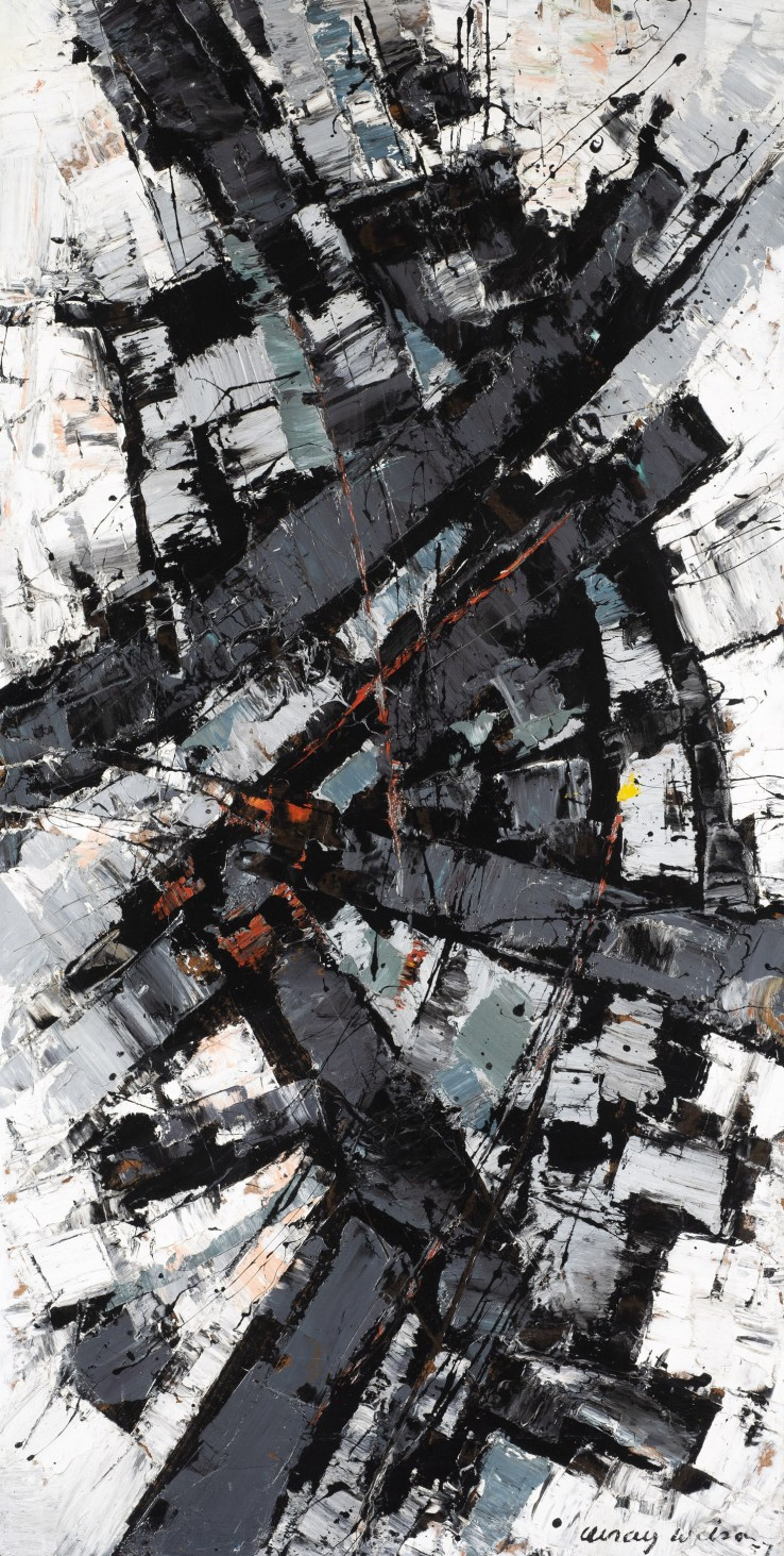 Frank Avray Wilson  Wish, 1957  Oil on board  122 x 61 cm  Signed and dated lower right; titled verso