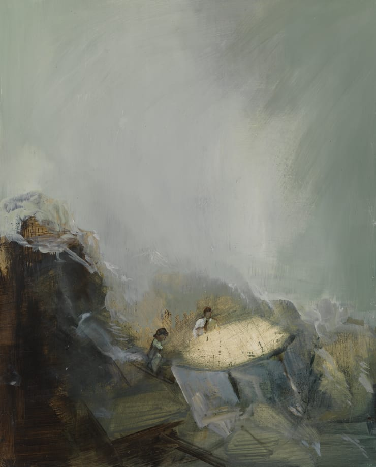 Pippa Gatty Fallout, , 2015 Oil on linen on board 36 x 45 cm