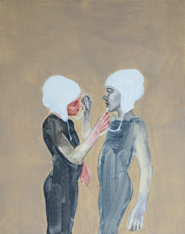 Pippa Young Study for: Self-construction, 2015 Oil on primed card 19 3/10 × 15 7/10 in 49 × 40 cm