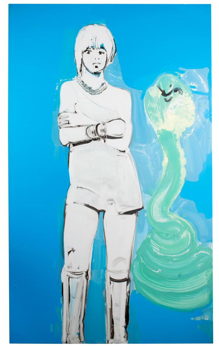 Ilona Szalay To The Last Ocean, 2018 Oil on aluminium 200 x 130 cm