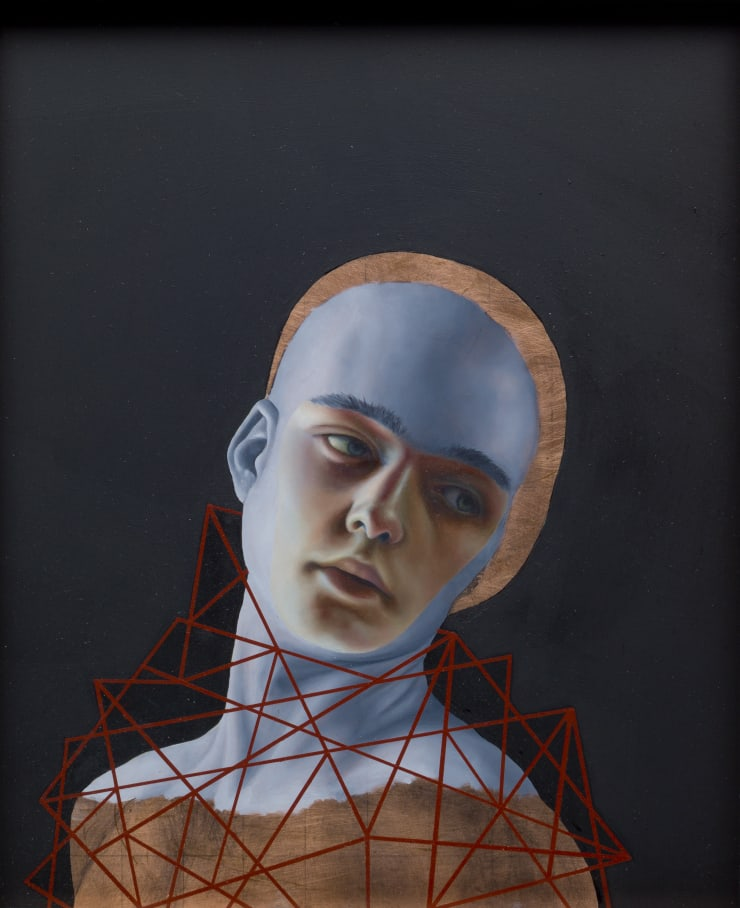 Pippa Young Self-confined 1, 2017 Oil on copper 11 4/5 × 9 4/5 in 30 × 25 cm