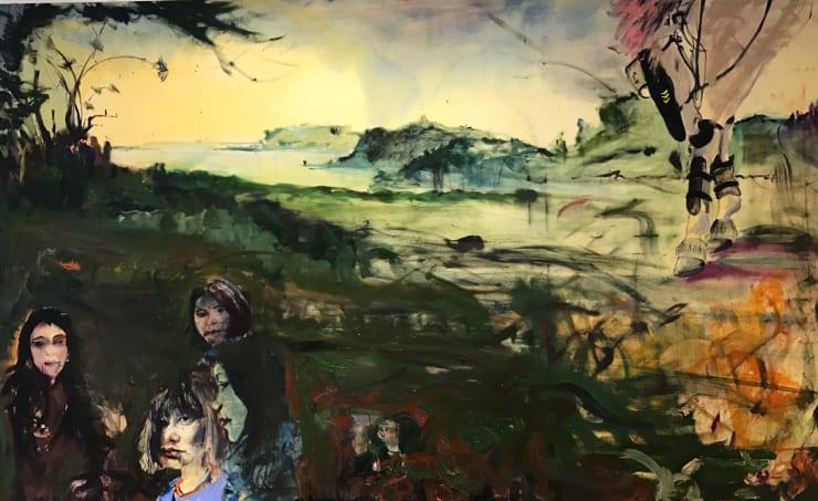 Blair McLaughlin Kindred Spirits, 2017 Oil on canvas 63 × 102 2/5 in 160 × 260 cm