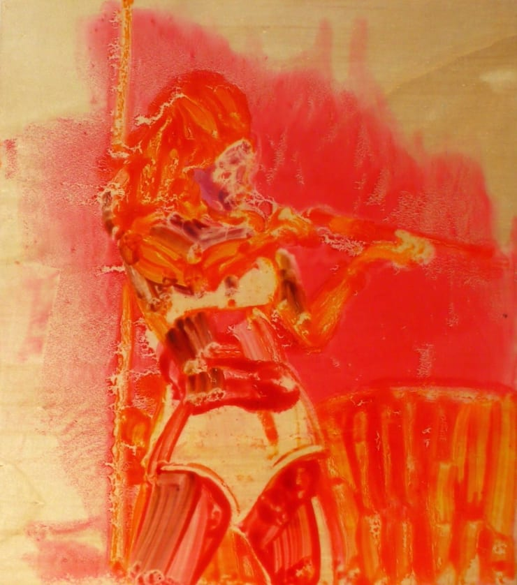 Ilona Szalay American Girl, 2015 Oil and resin on board 19 7/10 × 15 7/10 in 50 × 40 cm