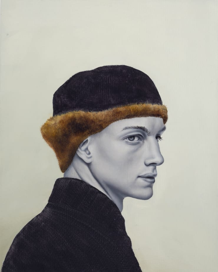 Pippa Young Holbein's Hat, 2017 Oil on primed paper 11 4/5 × 9 2/5 in 30 × 24 cm