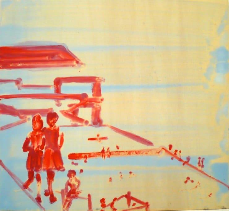 Ilona Szalay The Pool, 2018 oil on board 17 3/10 x 15 7/10 in44 x 40 cm