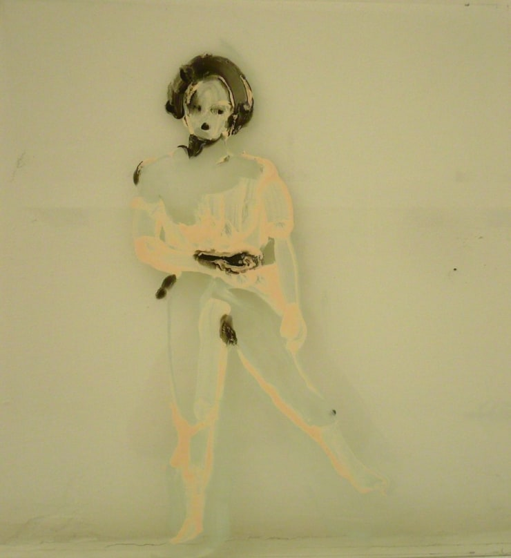Ilona Szalay Self Portrait 1, 2015 Oil on glass 15 7/10 × 11 4/5 in 40 × 30 cm