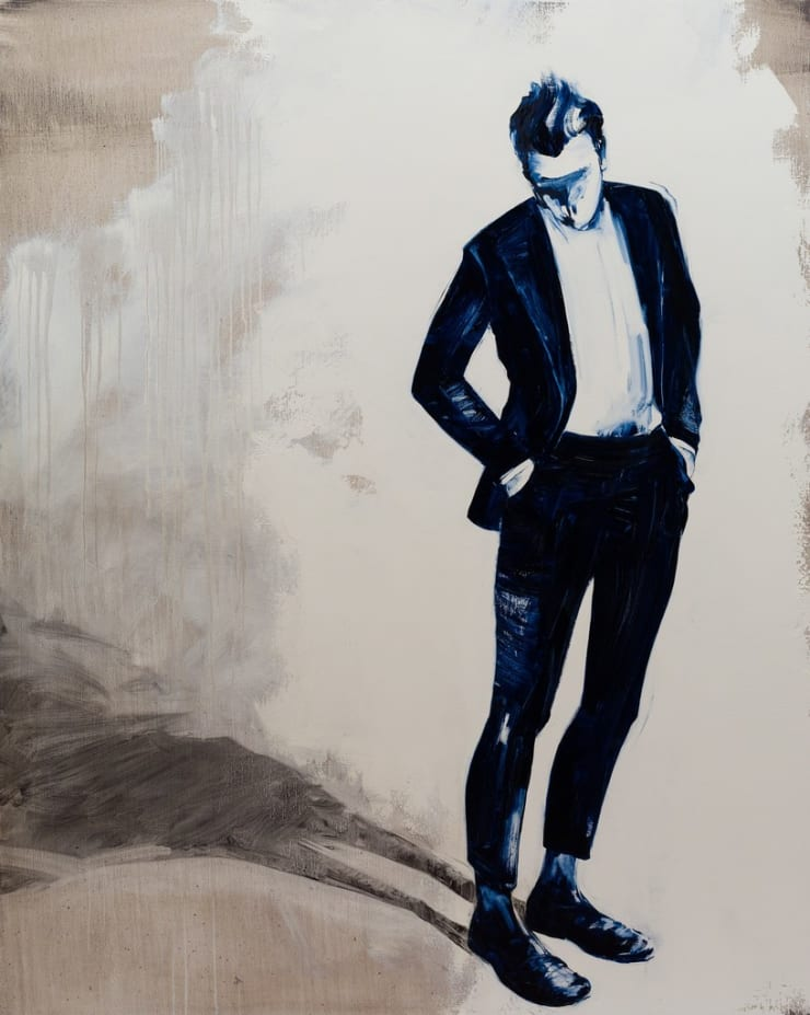 Shelly Tregoning New Suit, 2017 oil on linen 59 4/5 × 48 in152 × 122 cm