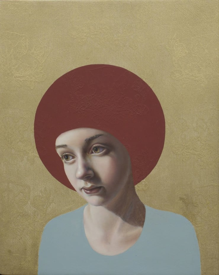 Pippa Young Icon, 2016 Oil on cradled panel 11 4/5 × 9 2/5 in 30 × 24 cm