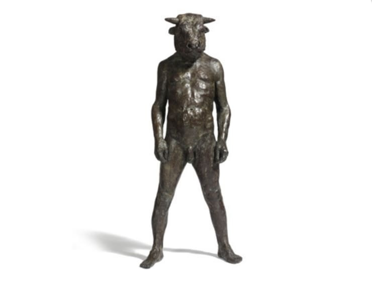 Beth Carter Standing Minotaur I Bronze 47 1/5 × 22 2/5 × 22 2/5 in 120 × 57 × 57 cm Edition of 15