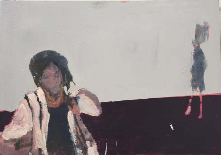Blair McLaughlin Female in riot Oil on canvas 18 1/10 × 33 1/2 in 46 × 85 cm