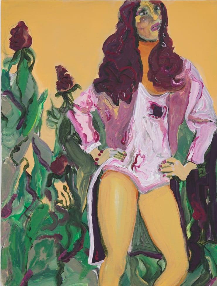 Rhiannon Salisbury Moroccan Swimwear Collection, 2018 acrylic on canvas 45 x 30cm