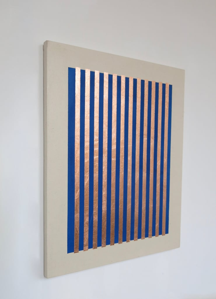 Eleanor McCullough Imitation Copper on Yves Klein, No. 18, 2017 Oil and copper leaf on canvas