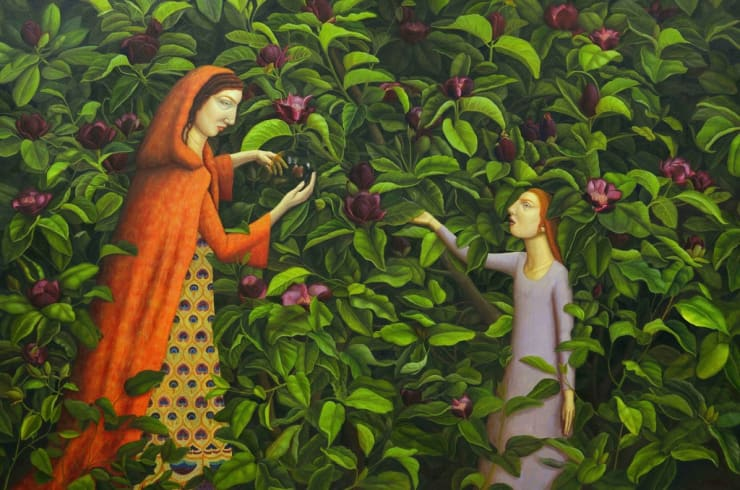 Helen Flockhart Ceres and Prosepine, 2016 oil on canvas 40 1/5 × 59 1/10 × 4/5 in102 × 150 × 2 cm