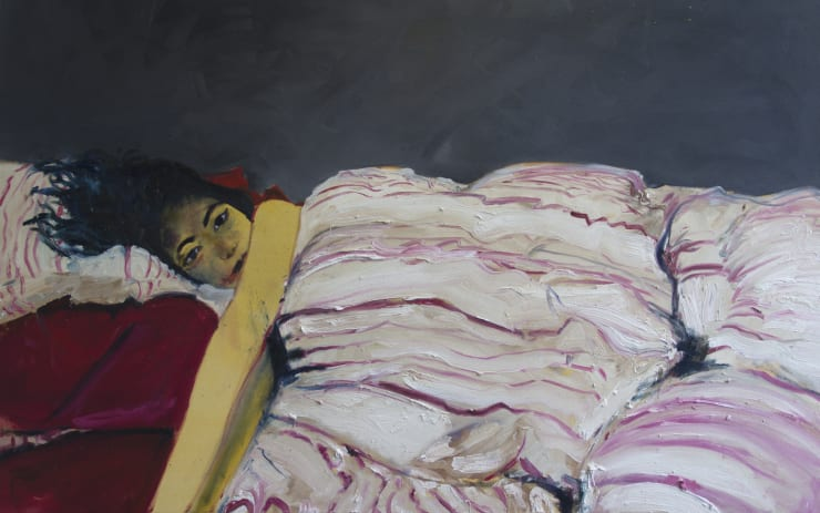 Blair McLaughlin Bobo, 2017 Oil on painting 39 2/5 × 63 in 100 × 160 cm