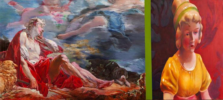 Morwenna Morrison Bucolic Dreaming Oil on canvas 80 x 180 cm