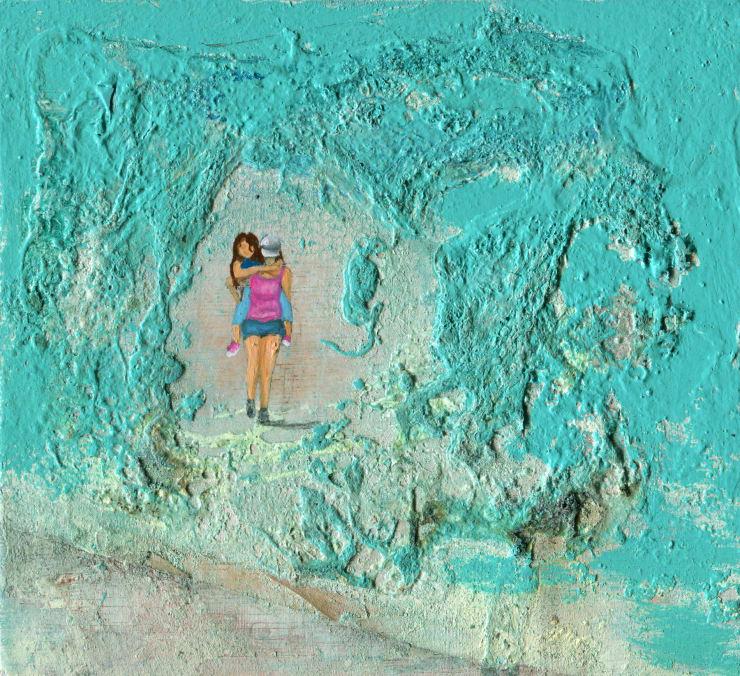 Jack Dunnett This Side of the Tracks, 2019 Oil on board 13 x 12 cm