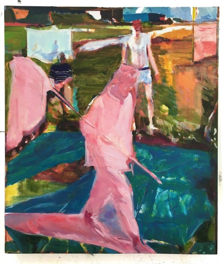 Sam Drake The Optimists, 2018 oil on linen 47 x 38 cm18 1/2 x 15 in