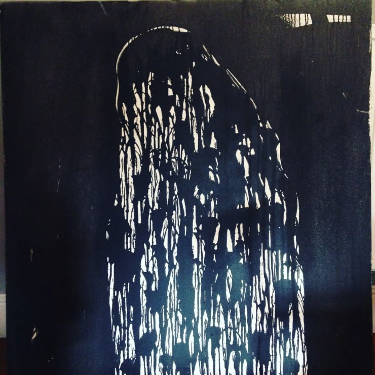Beatrice Brown Black Rain Phallus, 2017 oil on canvas