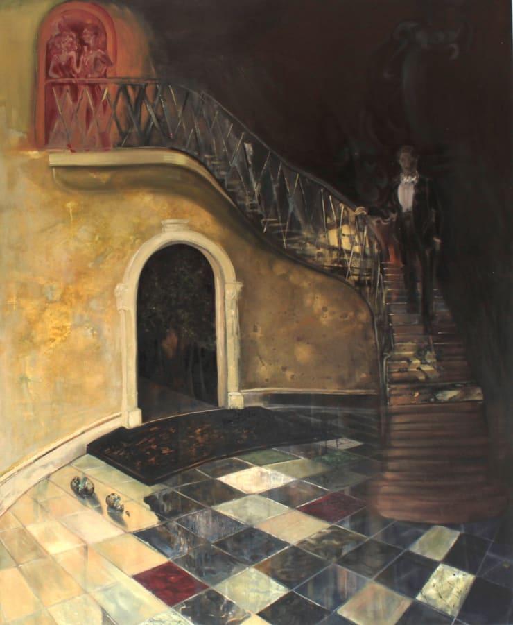 Plum Cloutman L'esprit D'escalier, 2019 Oil on canvas 135 x 110 cm