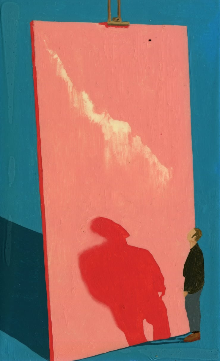 Jack Dunnett Shadow Boxing, 2019 Oil and varnish on board 15 x 10 cm