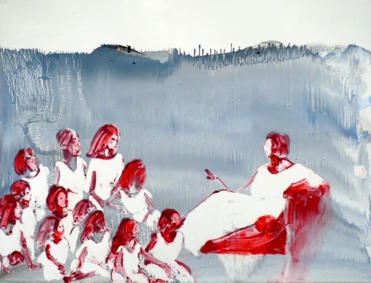 Ilona Szalay Instruction, 2015 Oil on panel 27 3/5 × 39 2/5 in 70 × 100 cm