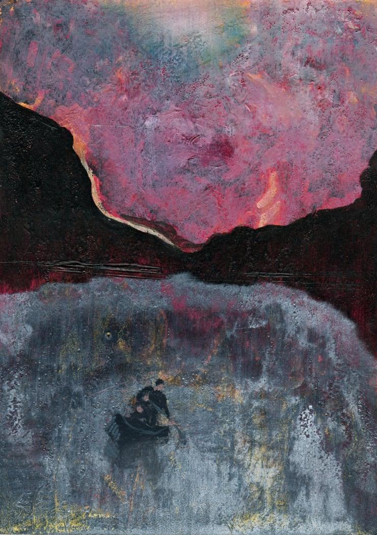 Jack Dunnett Drift 12x17, 2019 Oil and varnish on board 17 x 12 cm
