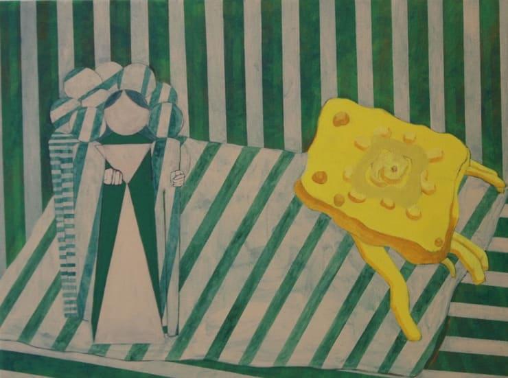 Tahnee Lonsdale Sponge Bag, 2017 acrylic on canvas 7 1/10 x 9 2/5 in18 x 24 cm
