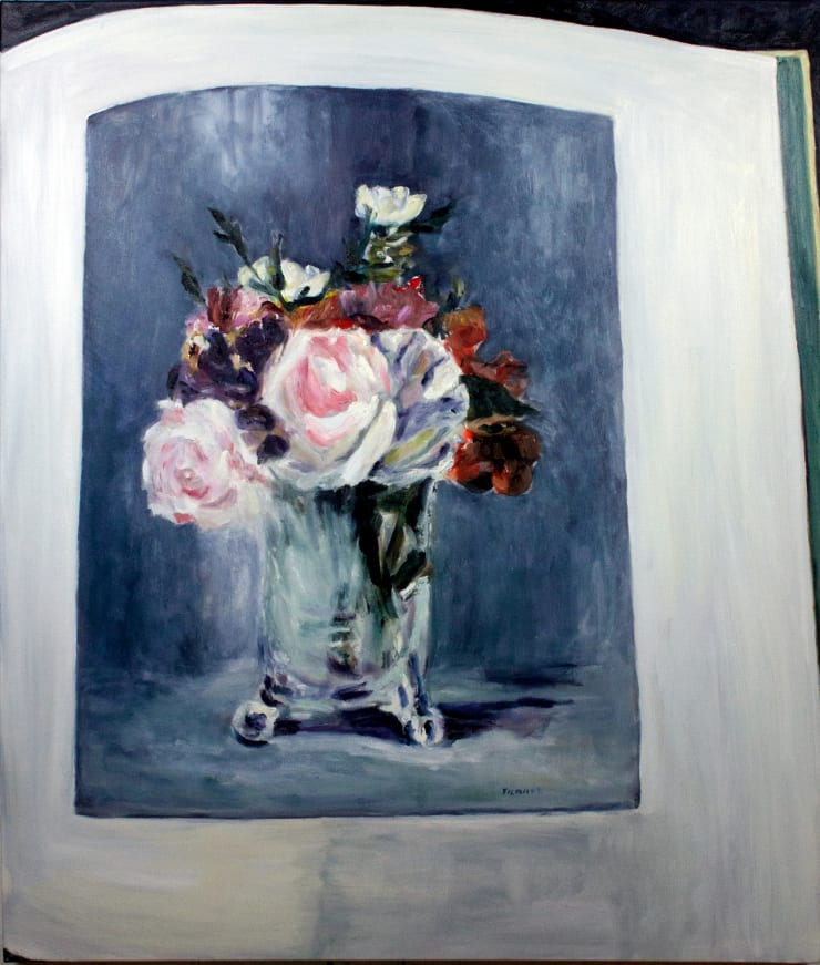 Lara Davies 'Roses, Ouillets, Pensees' from 'The Last Flowers of Manet', 2019 oil on canvas 120 x 100 cm
