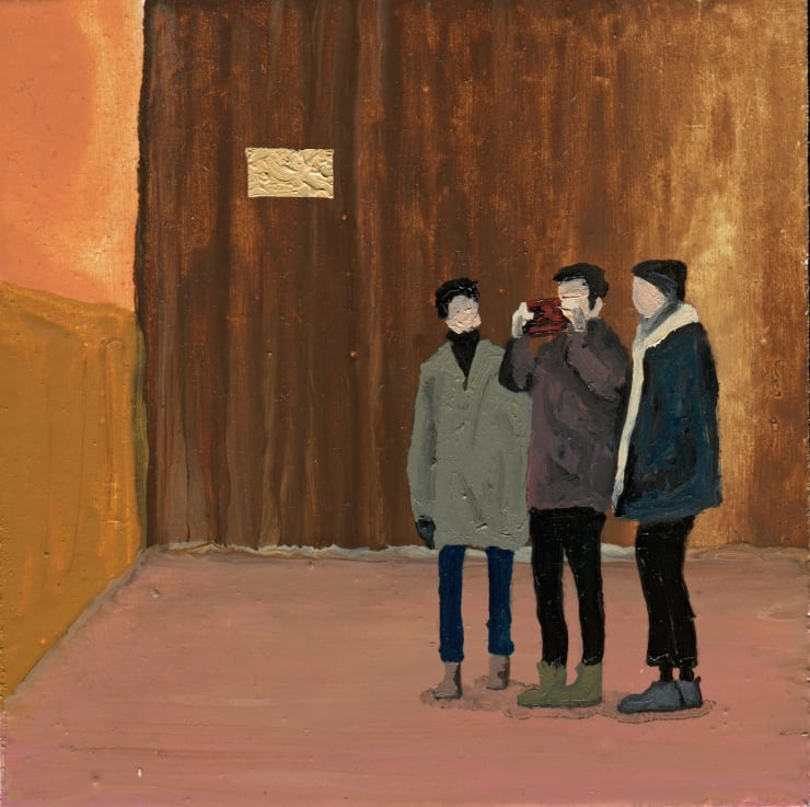 Jack Dunnett No Evil, Live On, 2019 Oil and varnish on board 12 x 12 cm