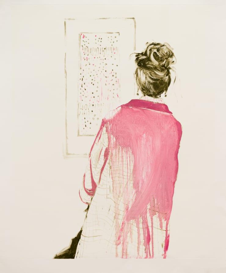 Shelly Tregoning Split Pink, 2019 Monoprint 112 x 91 cm
