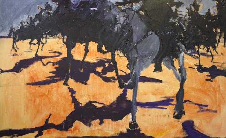Blair McLaughlin Thunder, 2017 Oil on canvas 63 × 102 2/5 in 160 × 260 cm