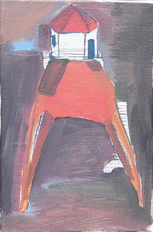 Isaac Aldridge Low Light House, 2018 oil on canvas 7 9/10 x 11 4/5 in20 x 30 cm
