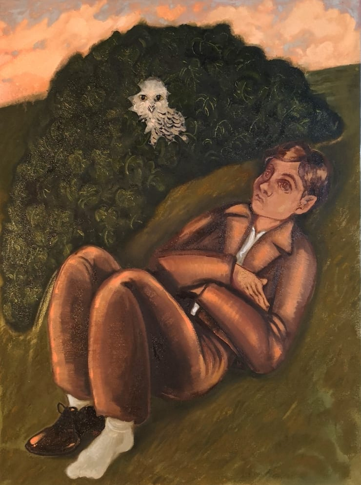 Plum Cloutman Like an Owl in an Ivy-bush, 2019 oil on canvas 80 x 60 cm