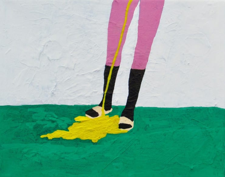Alexander Paulus Someone pissed all over my socks and sandals, 2018 acrylic on canvas 8 x 10 in20.3 x 25.4 cm