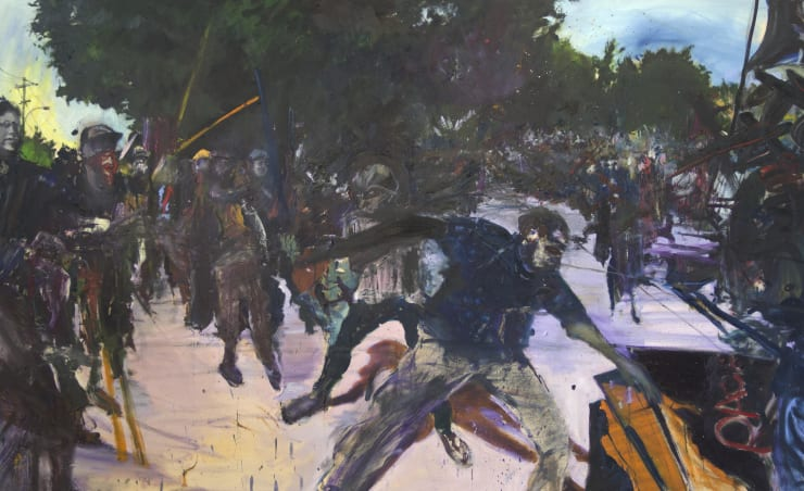 Blair McLaughlin Oppressive Disorder, 2017 Oil on canvas 63 × 102 2/5 in 160 × 260 cm