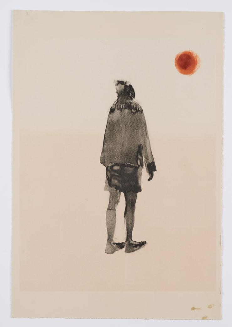 Shelly Tregoning Awkward Moon, 2019 Monoprint 53.5 x 38 cm