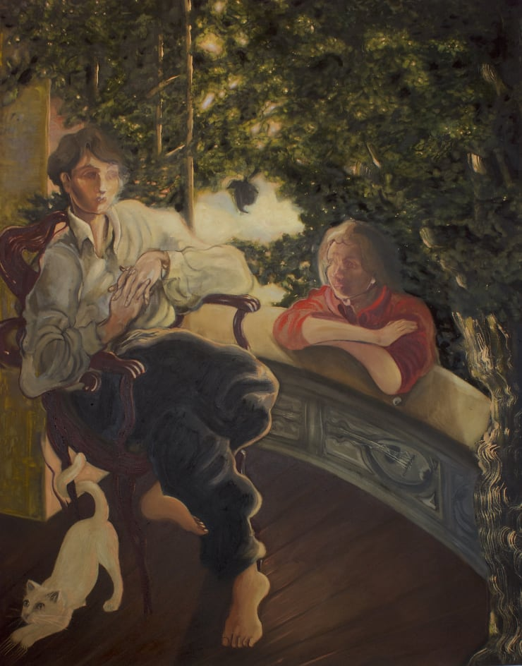 Plum Cloutman Apple of Discord, 2019 oil on canvas 110 x 140cm