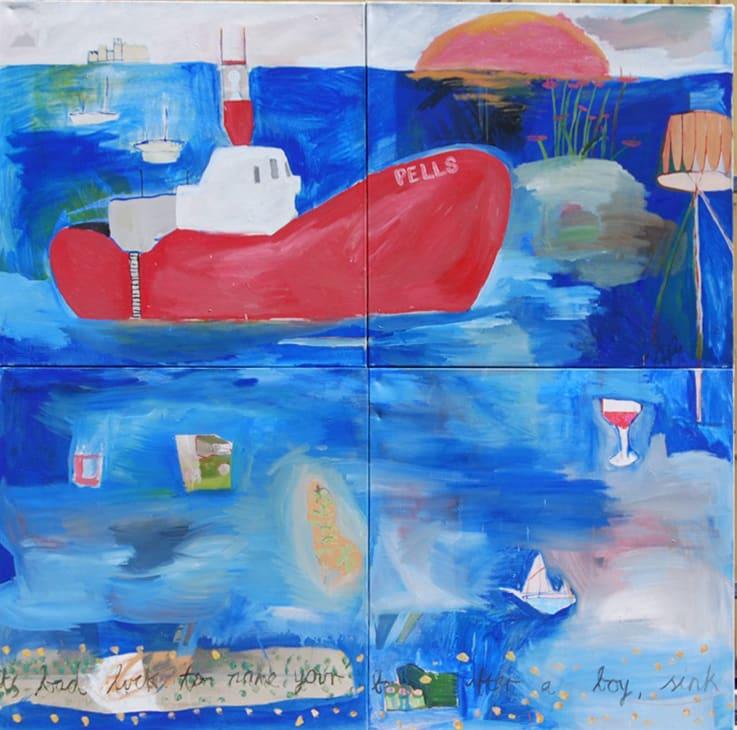 Isaac Aldridge , 2018 oil on canvas 68 1/10 x 68 1/10 in173 x 173 cm