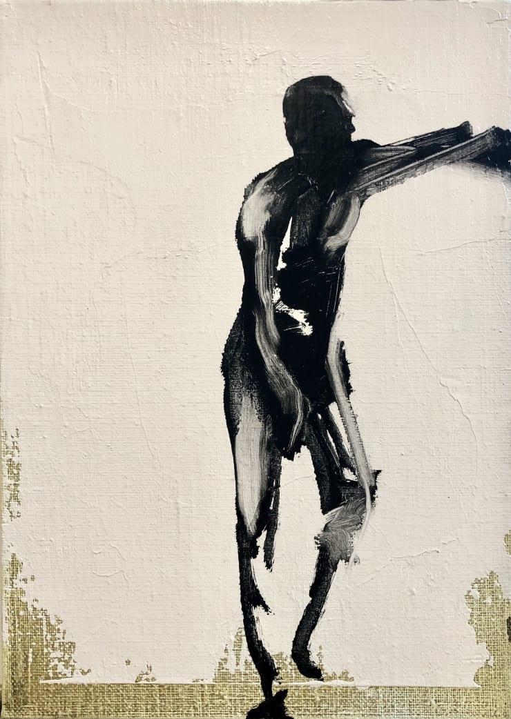 Shelly Tregoning Man Lean, 2019 Oil on linen 25 x 18 cm