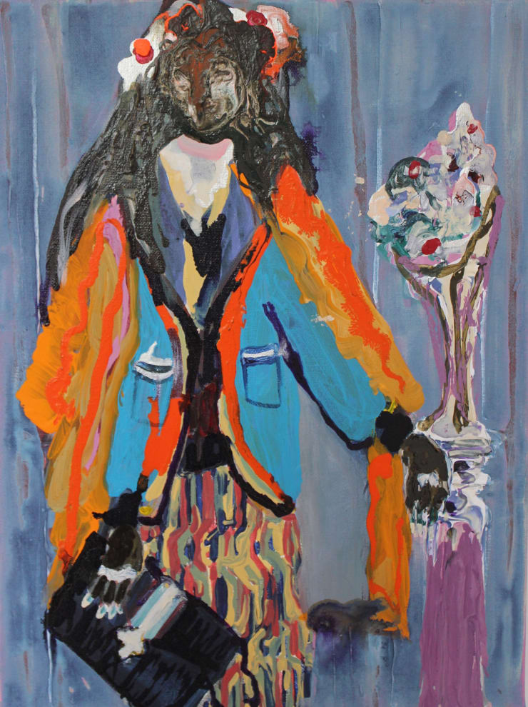 Rhiannon Salisbury Tigress, 2018 acrylic on canvas 40.6 x 30.5