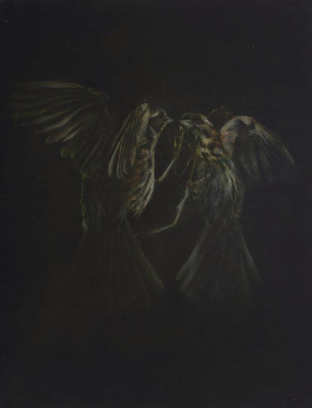 Fiona Finnegan Mirror oil and acrylic on board 15 7/10 × 11 4/5 in40 × 30 cm