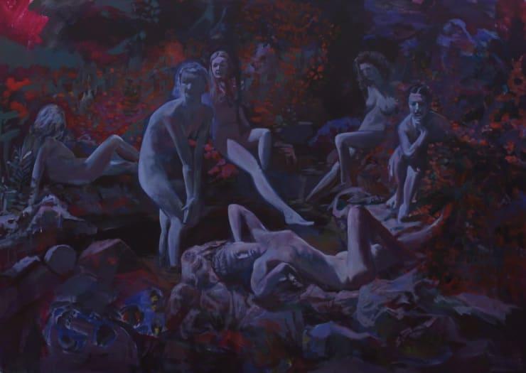Markus Vater Moonlight acrylic on canvas 35 2/5 × 47 1/5 in90 × 120 cm