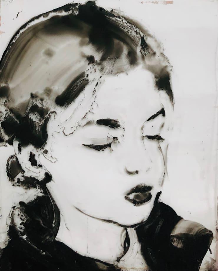 Ilona Szalay Grid 3, 2019 Oil on glass 40 x 50 cm